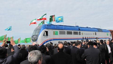 A 900-kilometre (560 mile) railway through Turkmenistan, Kazakhstan and Iran was launched in December. The railways is intended to link Central Asia to the trade routes of the Persian Gulf.
