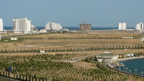 Turkmenistan hopes to turn the Caspian Sea resort of Avaza into a water sports hub.