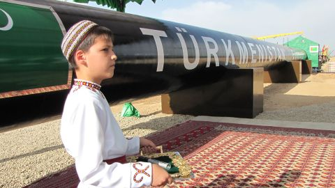 Turkmenistan says it has the fifth largest natural gas reserves in the world.