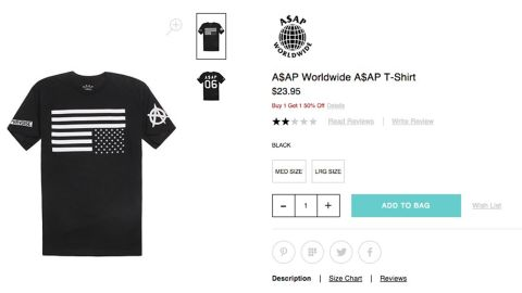 """PacSun stores have reportedly angered some shoppers with this upside-down flag shirt. <a href=""""http://abc7.com/business/pacsun-removes-t-shirt-over-american-flag-controversy/741764/"""" target=""""_blank"""" target=""""_blank"""">CNN affiliate KABC-TV reports</a> that the company removed the $24 item -- which is a part of rapper A$AP Rocky's clothing line -- after a customer started #BoycottPacSun on social media. In a statement to KABC, PacSun said it values artistic and creative expression, but """"out of respect for those who have put their lives on the line for our country, we have decided to stop selling the licensed flag T-shirt and are removing it from our stores and website immediately."""""""