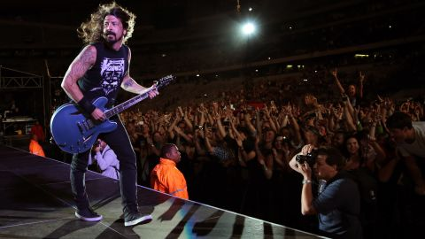 Grohl performs during a Foo Fighters concert in December 2014 in Cape Town, South Africa.