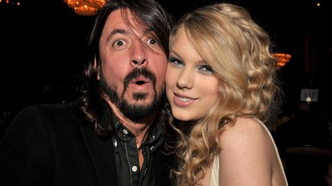 """Taylor Swift and Grohl pose together at a 2008 Grammys party in Los Angeles. Grohl <a href=""""http://www.cnn.com/2015/05/25/entertainment/dave-grohl-paul-mccartney-taylor-swift-feat/index.html"""" target=""""_blank"""">recently admitted</a> he's """"obsessed"""" with the singer."""
