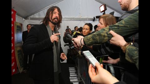 """Grohl arrives at the 2013 Sundance Film Festival for the premiere of his film """"Sound City,"""" a documentary about the studio of the same name that recorded several famous artists."""