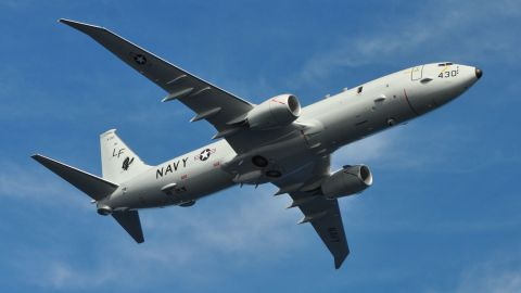 A P-8A Poseidon assigned to Patrol Squadron (VP) 16 is seen in flight over Jacksonville, Fla. (U.S Navy photo by Personnel Specialist 1st Class Anthony Petry/Released)