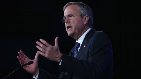 Republican presidential hopeful and former Florida Governor Jeb Bush speaks during the 2015 Southern Republican Leadership Conference May 22, 2015 in Oklahoma City, Oklahoma.