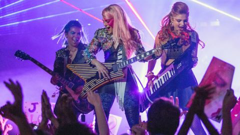 """The '80s cartoon """"Jem and the Holograms"""" is making the jump to live action and the big screen in October."""
