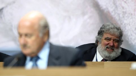 """<a href=""""http://cnn.com/2013/05/06/sport/football/football-fifa-suspend-executive-committee-member-chuck-blazer/"""">FIFA's Ethics Committee suspends outgoing executive committee member Blazer (pictured back right) </a>for 90 days """"based on the fact that various breaches of the Code of Ethics appear to have been committed"""" by the American. Blazer is former general secretary of CONCACAF, the body which governs football in North and Central America and the Caribbean, and his suspension follows a report by its integrity committee. Blazer denies any wrongdoing."""