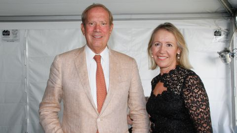 He also served for 10 years in the New York State legislature. From left to right, Pataki and Libby Pataki attend East Hampton Library's Authors Night 2014 on August 9, 2014 in East Hampton, New York.