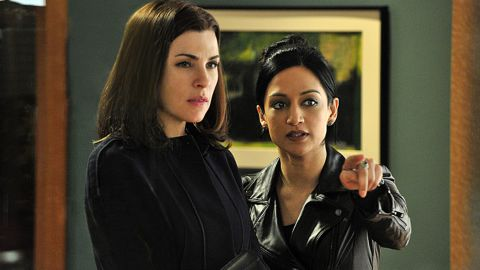 """<a href=""""http://tvline.com/2015/05/15/good-wife-alicia-kalinda-finale-scene-julianna-margulies-archie-panjabi/"""" target=""""_blank"""" target=""""_blank"""">TVLine reported</a> that Julianna Margulies, left, and Archie Panjabi did not actually film their final scene together on the """"Good Wife."""" According to the site, body doubles and special effects were used to create the scene. There have long been rumors of tension between the pair on the set of the hit CBS drama."""
