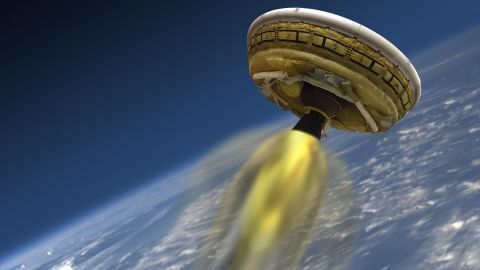 This artist's concept shows the test vehicle for NASA's Low-Density Supersonic Decelerator.