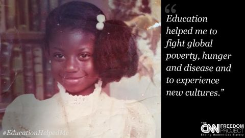 """To highlight how education can help end child labor, you sent us your old school photos and told us how education has helped you. This submission is from <a href=""""https://twitter.com/carlajohnsonATL"""" target=""""_blank"""" target=""""_blank"""">@carlajohnsonATL</a>, Atlanta, USA. Click through the slideshow to see more."""