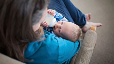 """Sarah breastfed many of her children, Whitman said, but experienced pain from clogged ducts. """"She's a busy mama, with six other kids running around,"""" Whitman said, and bottle feeding was a positive experience for them."""