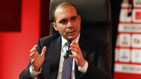 """The 39-year-old son of the late King Hussein of Jordan has been a FIFA vice president since 2011, representing Asia. He is the president of the West Asia Football federation. In the first ballot in the recent FIFA presidential election, he only received 73 votes, and most of those likely came from European associations, after his candidacy was put forward by England. Prince Ali told CNN's Christiane Amanpour Tuesday that he's<a href=""""http://www.cnn.com/videos/world/2015/06/02/intv-amanpour-prince-ali-blatter.cnn""""> """"at the disposal"""" of those who want change.</a>"""