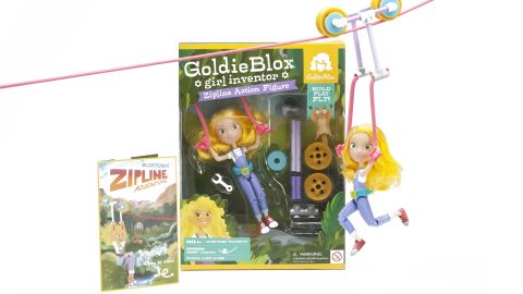 The GoldieBlox Zipline Action Figure is a can-do doll.