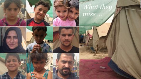 CNN talked to internally displaced Sunni families in western Baghdad about the items they were forced to left behind as they fled from ISIS brutality in Anbar province.
