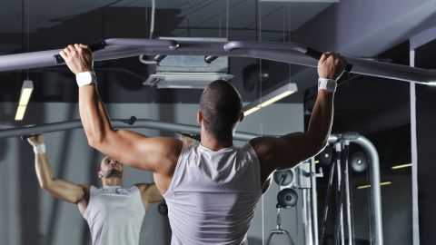 <strong>Pull-up: </strong>Done improperly, pull-ups can lead to shoulder issues.