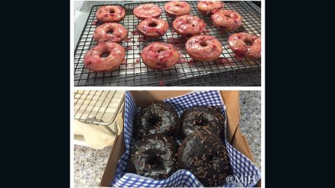 Megan Holleran one-upped us all -- she made these delicious-looking doughnuts herself! She says that baking for her family and friends is her passion and that doughnuts make a morning fun and give people a reason to smile.