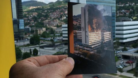 Twenty years after the Dayton Peace Accords brought an end to fighting in the Bosnian War, Pope Francis visits Sarajevo to pray for long-lasting reconciliation. Three years of bloody fighting in the early 1990s left the region and its people deeply battle-scarred, and repairing the damage is still a work in progress. The parliament building in Sarajevo was shelled, shot at, and set on fire; today it is once again home to lawmakers.
