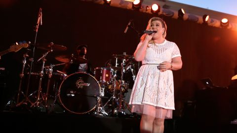 """Singer Kelly Clarkson has seen her weight fluctuate over the years. The Internet had a great deal to say after she didn't immediately shed the weight after the birth of her daughter in 2014. """"I don't obsess about my weight, which is probably one of the reasons why other people have such a problem with it,"""" <a href=""""http://www.redbookmag.com/life/news/a21410/kelly-clarkson/"""" target=""""_blank"""" target=""""_blank"""">she told Redbook</a>. In July she responded to a Twitter troll who called her fat by tweeting """"and still f***ing awesome."""""""