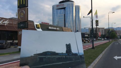 """This hotel and a branch of fast food chain McDonald's have been built alongside Sarajevo's """"Sniper Alley"""" -- CNN camerawoman Margaret Moth was shot and seriously wounded nearby."""