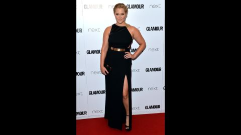 """<a href=""""https://www.instagram.com/p/BD0sVf9KUCy/?taken-by=amyschumer&hl=en"""" target=""""_blank"""" target=""""_blank"""">Amy Schumer recently posted an Instagram photo </a>that she said was of Glamour magazine including her with plus-size performers. It's not the first time she's been categorized as such. In February 2015, she shot back at a critic who accused her of being overweight by <a href=""""https://pbs.twimg.com/media/B9rSuqBIQAA66as.jpg"""" target=""""_blank"""" target=""""_blank"""">posing topless in her underwear. </a>In June, she <a href=""""http://www.mtv.com/news/2177647/amy-schumer-glamour-award-acceptance/"""" target=""""_blank"""" target=""""_blank"""">accepted a Glamour Award</a> in London and said in her speech, """"I'm probably like 160 pounds right now, and I can catch a d*** whenever I want. That's the truth. It's not a problem."""""""