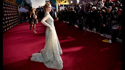 """Actress Lily James was the subject of some negative chatter after photos surfaced of her as a wasp-waisted Cinderella in early 2015. The actress said she is naturally small, and <a href=""""http://www.latimes.com/entertainment/movies/moviesnow/la-et-mn-cinderella-lily-james-digitally-altered-waist-20150302-story.html"""" target=""""_blank"""" target=""""_blank"""">""""I'm so healthy."""" </a>"""