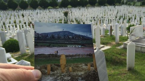 """Lion Cemetery was once a football field. Now it is the resting place of thousands of victims of the siege of Sarajevo, including the city's <a href=""""http://edition.cnn.com/2012/04/05/world/europe/bosnia-romeo-juliet/"""">""""Romeo and Juliet,"""" Bosko Brkic and Admira Ismic</a>, who were shot as they tried to cross the Vrbanja Bridge, and died in each other's arms in May 1993. Kurt Schork, the journalist who first told their story, was also buried here after he died on assignment in Sierra Leone in 2000."""