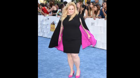 """Actress Rebel Wilson has gone a step beyond worrying about those who criticize her for her weight: She's found fame playing """"Fat Amy"""" in the """"Pitch Perfect"""" films. But as proud as she is of her look, Wilson <a href=""""http://www.marieclaire.co.uk/news/celebrity/553164/marie-claire-s-july-issue-cover-star-rebel-wilson.html"""" target=""""_blank"""" target=""""_blank"""">told Marie Claire U.K. she doesn't do nude scenes. </a>"""