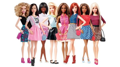 """In 2015, <a href=""""https://www.cnn.com/2015/06/05/living/barbie-flat-feet-more-diverse-feat/index.html"""" target=""""_blank"""">the Barbie Fashionista line</a> represented eight skin tones, 14 facial structures, 22 hairstyles, 23 hair colors and 18 eye colors."""