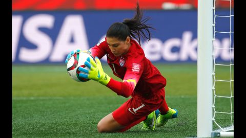 Solo made some big saves in the Australia match, especially early in the first half.