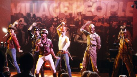 """Disco ruled the charts in the late '70s but found some unlikely superstars in the form of the Village People. Their name was inspired by New York's Greenwich Village, which had a large gay population at the time, and the group became known for their onstage costumes and suggestive lyrics. In 1978, their songs """"Macho Man"""" and """"Y.M.C.A."""" became massive hits and brought them mainstream success."""