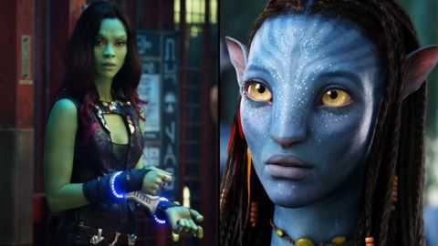 """Zoe Saldana stars in not one but three major sci-fi movie franchises. She's Lt. Nyota Uhura in the rebooted """"Star Trek"""" movies, stars as former assassin Gamora in the Marvel hit """"Guardians of the Galaxy"""" and is Neytiri in """"Avatar"""" and its planned sequels."""