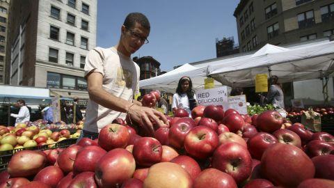 Union Square Green Market in New York