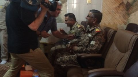 Ben Wedeman interviews Major General Jumaa Anad, commander of Salaheddin operations.