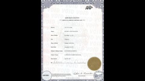 """Dolezal's birth certificate shows that she was born to Lawrence Dolezal and Ruthanne Schertel. Her public racial identity came under scrutiny on Thursday, June 11, in <a href=""""http://www.kxly.com/news/spokane-news/First-on-KXLY-Rachel-Dolezal-responds-to-race-allegations/33539322"""" target=""""_blank"""" target=""""_blank"""">an interview with a reporter from CNN affiliate KXLY</a>."""