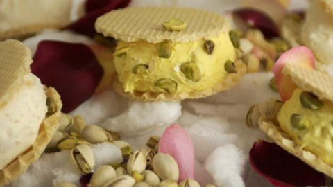 At Mashti Malone's, there's ice cream influenced by Middle Eastern flavors like rosewater saffron with pistachios.