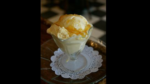 The Creole Creamery's popular summer flavor is golden summer fig. The flavor features saffron ice cream, orange blossom honey and a swirl of Louisiana fig preserves.