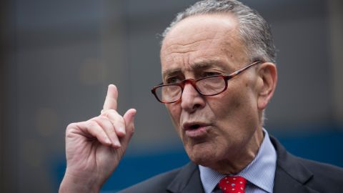 NEW YORK, NY - MAY 15: U.S. Senator Charles Schumer (D-NY) speaks at a press conference outside New York Penn Station calling for a greater funding and safety for U.S. railways on May 15, 2015 in New York City. The four point plan comes on the heels of an Amtrak train accident outside Philadelphia that killed 8 people and injured more than 200 others. (Photo by Andrew Burton/Getty Images)