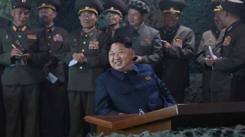 Supreme Commander of the Korean People's Army Kim Jong Un watched a drill of firing new type anti-ship rockets. The 'highly intelligent rockets' were tested in the early morning hours on Tuesday, June 16th, 2015