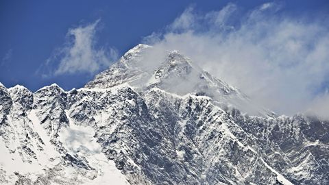 Mount Everest is captured in this photograph taken from the village of Tembuche, in the Khumbu region of northeastern Nepal, five days before the April 25 quake.