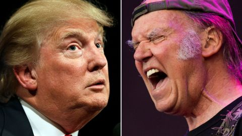 """<a href=""""http://www.cnn.com/2015/06/16/politics/donald-trump-2016-neil-young-song/index.html"""">Neil Young was not happy</a> that Republican presidential candidate Donald Trump chose to use his song """"Rockin' In The Free World"""" when he announced his candidacy."""