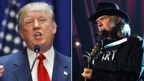 """Neil Young is not happy that Republican presidential candidate Donald Trump chose to use his song """"Rockin In The Free World"""" when he announced his candidacy. It's not the first time a politician has run afoul of a rocker."""