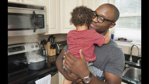 More time in direct child care has led today's fathers to be more comfortable expressing emotion with their kids.