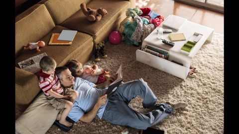 Dads today make more time for housework and hanging out with their children.