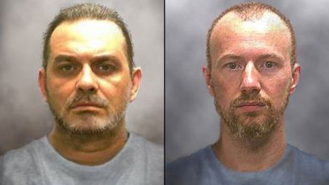 The New York State Police issued these 'progression' photos of Richard Matt and David Sweat on June 17, 2015. Matt, 49, and Sweat, 35, escaped from the Clinton Correctional Facility in Dannemora, New York sometime after they were last seen at bed check Friday night, June 5, 2015. The pair left decoys to trick guards into think they were asleep as they made their escape. Both were serving time on separate murder convictions.