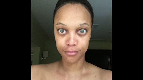 """Tyra Banks is a former supermodel who knows a thing or two about makeup and Photoshop. But in June 2015, <a href=""""https://instagram.com/p/4CJxW3KQJc/"""" target=""""_blank"""" target=""""_blank"""">she posted an unretouched, makeup-free photo of herself on Instagram</a> with the caption, """"You deserve to see the REAL me."""""""