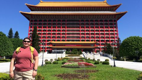 """""""2014, in front of the Grand Hotel in Taipei, Taiwan. You won't be seeing any of these pictures on Facebook or Instagram. This is me at my heaviest and hopefully, after this year, never again."""""""