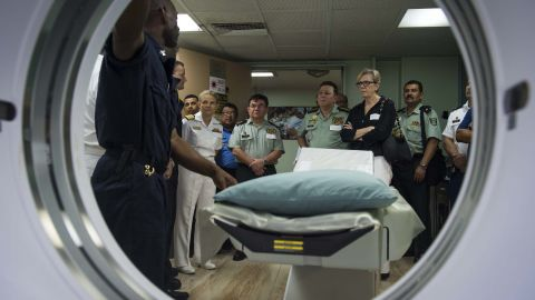 A radiology suite is just one part of the ship's high tech facilities.