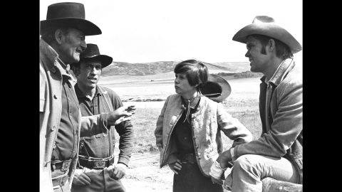 """In 1969, Campbell co-starred in the Western """"True Grit"""" with John Wayne. Wayne, left, won an Oscar for his role as Rooster Cogburn."""