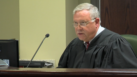 Chief Magistrate James B. Gosnell Jr. during Friday's Dylann Roof hearing.